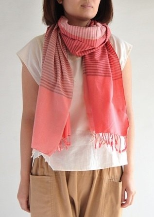 "Earth tree fair trade- ""2014 Spring Scarf"" - hand-woven cotton scarves"