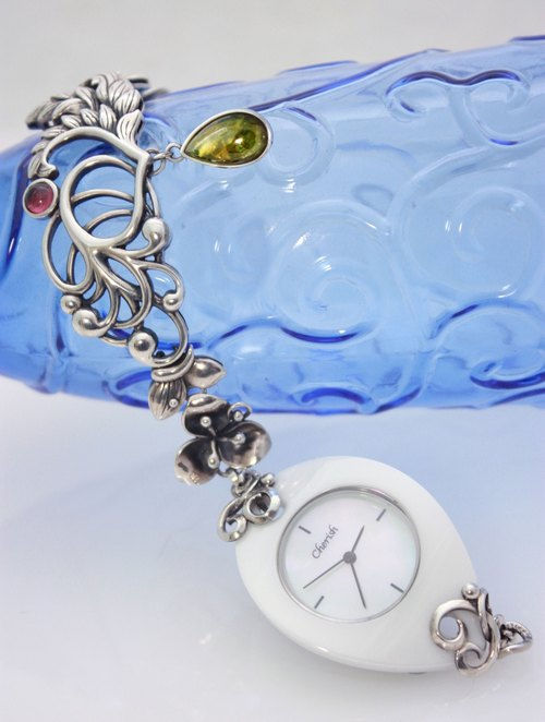 - Wind Plant custom jewelry watch - Silver Watches (BiaoShen required by customer)
