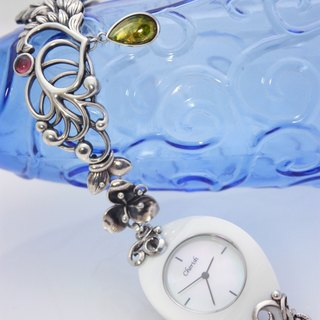 - Botanical wind jewelry table custom - sterling silver bracelet watch (main stone or body need to bring your own)