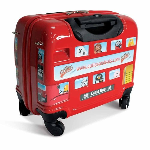 [UK] cuties and pals exclusive 12-inch lightweight hard-shell suitcase Children (London bus)