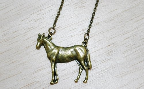 Alloy necklace * horse *