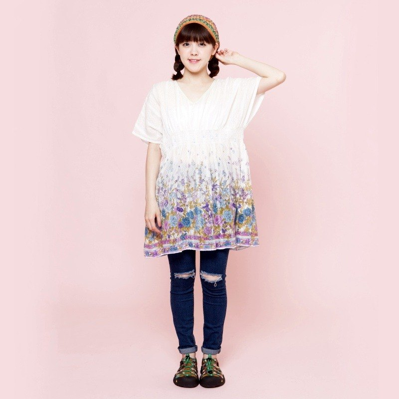 ✾saibaba ethnique // grain flowers butterfly lace blouse ✾