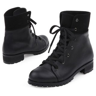 【Korean trend】SPUR Black contrast work boots FF7055 BLACK