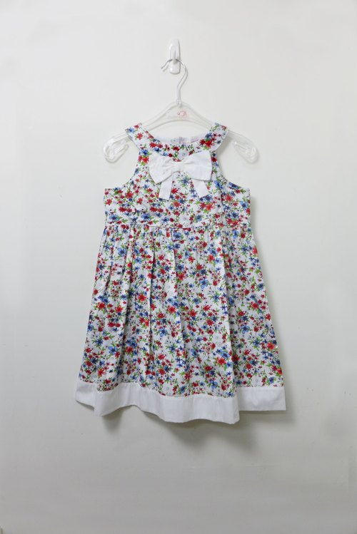 Xiaojian colorful floral sleeveless dress