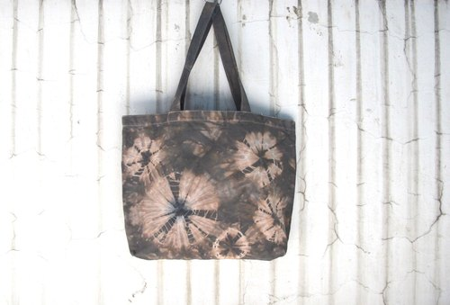 Hand-dyed tie dye tie-dye canvas bag
