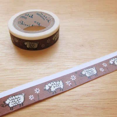 Shinzi Katoh Kato Shinji playful graffiti illustration paper tape (MKT6095) sheep