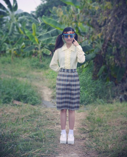 Lattice | vintage dress