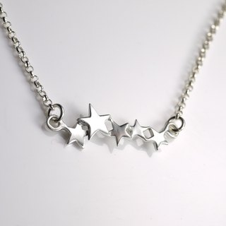 Starry Night - Handmade Star Necklace - Silver Sky Collection