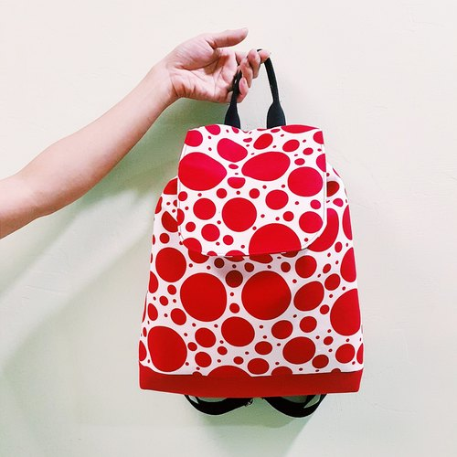 S, HU - Kusama little round beam port Backpack
