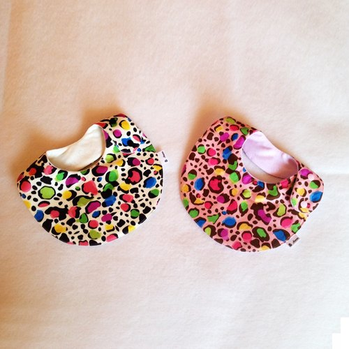 Sweet candy leopard (two colors) - Bibs