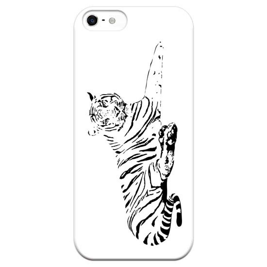 [Traditional patterns - Tiger] white shell left-handed / right-handed - Tattoo Phone Case Big Tail rogue