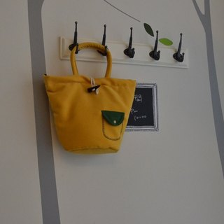 Handbag - yellow hand-made rhapsody