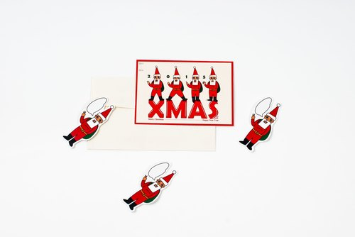L'appeso Hanged man owe play Claus Christmas cards (three Purchased AREA)