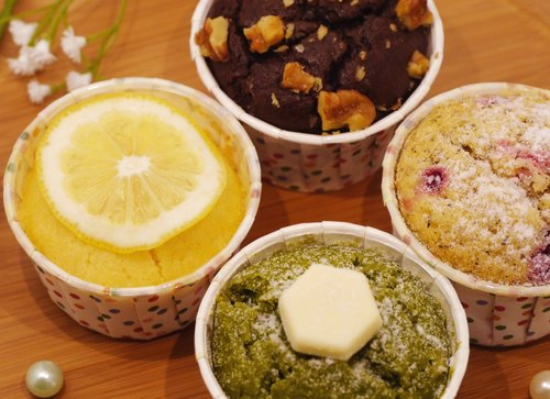 Round little cupcakes gift (Earl, brownies, white chocolate green tea, lemon four kinds of flavors each one) hand-made gift handmade dessert dessert exchanging gifts Souvenir New Year gift