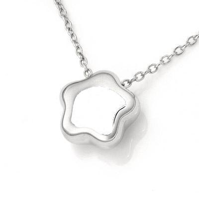Hong Kong star necklace design BU body (16 & # 39;) --925 sterling silver jewelry platinum stars cute simple