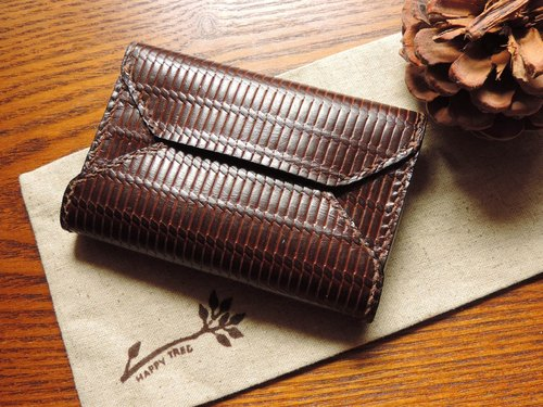 Pure hand-stitched leather weave pattern Cardcase / seal package (special)