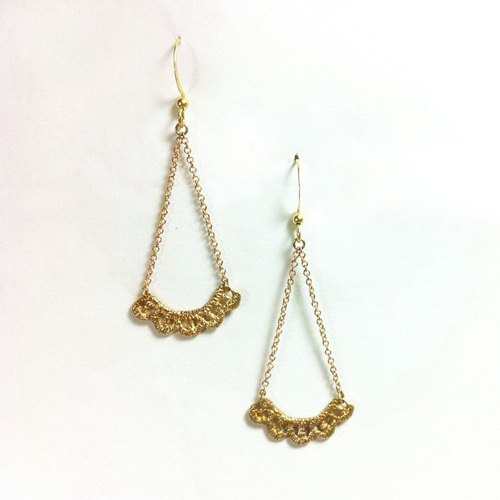 ** DORCUS ** Lace Series / retro earrings Jinlei Si copper / brass / pure handmade