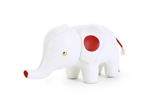 Zuny Classic- elephant bookend modeling Baishi (flags Edition - Japan)