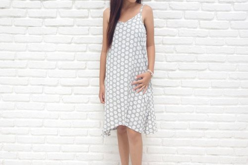 2015 Resort Fashion New! Sand Dollar print camisole dress <gray>