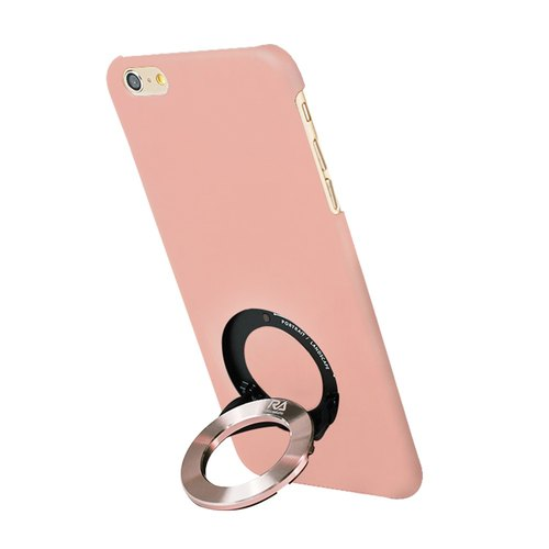 [Rolling-Ave.] iPhone 6 plus / 6s plus 手機保護殼iCircle粉色玫瑰金環 - Pink with rose gold ring