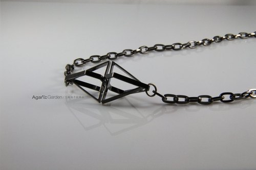 Geometric adder necklace
