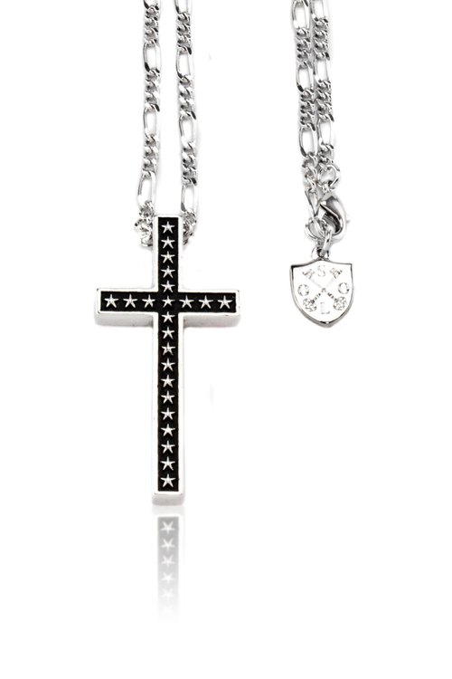 Solo The Star of Bethlehem Cross Necklace white gold cross necklace jewelry star of Bethlehem