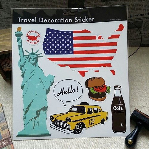 Japan Marks Travel Sticker [Free America (STK-TD1-L)] trunk decoration