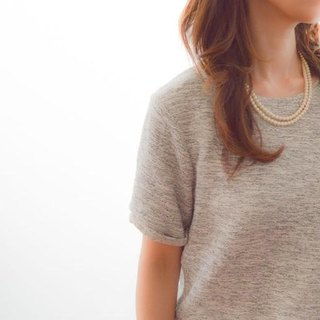 Long Cotton Pearl Necklace