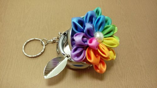 [Jin homes] six triple gradient portable ashtray keychain