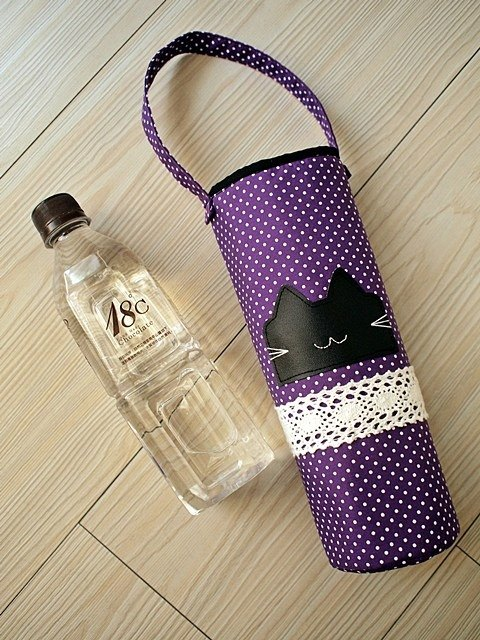 momo fish ordered. Smiling rabbit portable water bottle cooler bag 2 pieces set (20CM / 25CM)