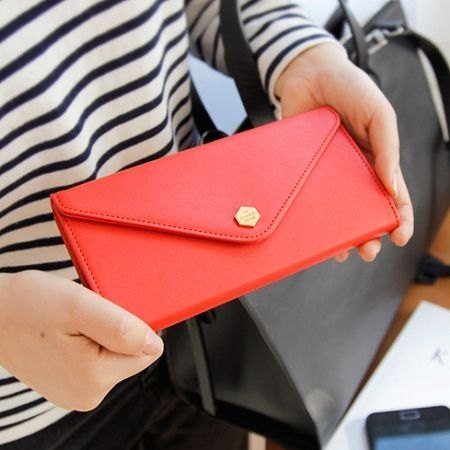 Dessin x Iconic- envelope bag Universal 3C wallet V2- red, ICO80619