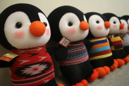 Penguin library library * sock dolls handmade <Martins Handmade>