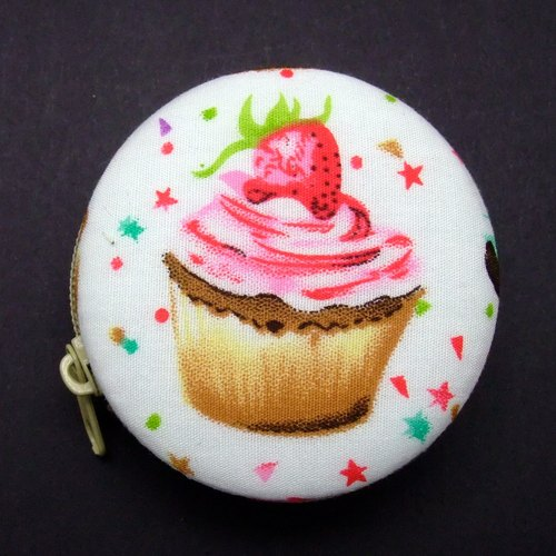 Macaron purse / headset package / jewelry box / strap - Pink Cupcake