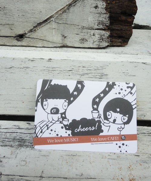 k82 waste foam - illustration postcard / cheers