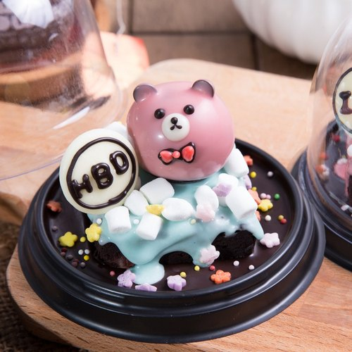 【Mr. Brown Bear Chocolate Brownie】 Snow Bear brownie bear (custom three-dimensional cake 1 ~ 2 share)
