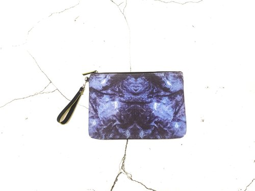 HARD RAYS Blue stone clutch (can fit iPad)