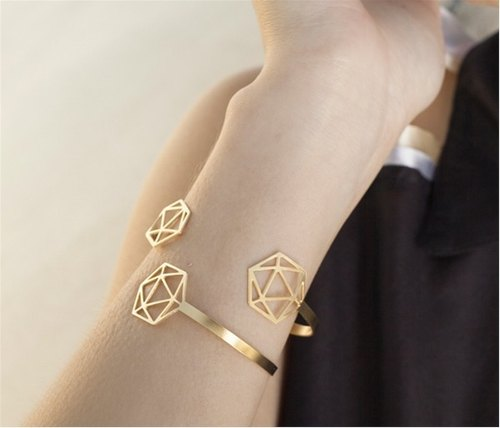 Israeli designer handmade jewelry universe star bracelet (gold and silver color)