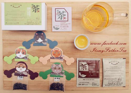 """Father Tea‧ Ming Xian Tea"" Pets ‧ Creative teabag group (10 into the box) C3 meow group"