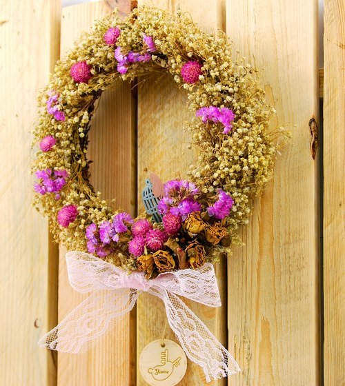 Sky and stars - Full Hand-made dried wreaths