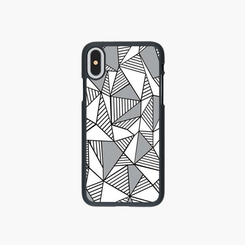 SpaceCase - Phone Case - Abstraction Lines With Grey Blocks