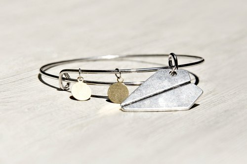 / Simple sense / interesting silver bracelet bracelet bracelet - toward the sky paper airplane
