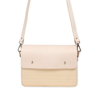 Wooden Shoulder Bag (Large) (Leather Tan)
