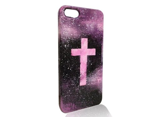 Sweet4Girls exclusive design phone shell painted fluorescent stars universe cross section ✟ iPhone 6/5 / 5s / 4s