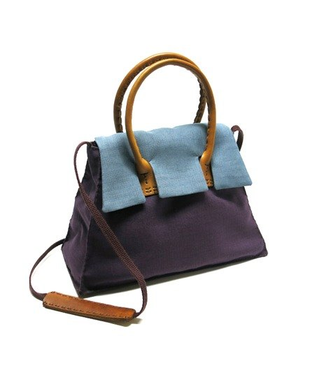 Handbag / shoulder bag dual Josephine Josephine Bag smoked gray x Purple