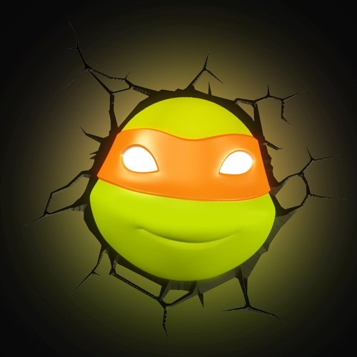 3D modeling wall lamp - Teenage Mutant Ninja Turtles series Michelangelo
