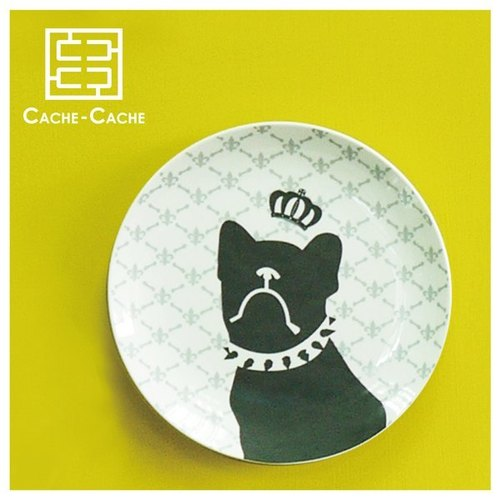 French Bulldog Series 9-inch plate -The Royal Highness His Royal Highness Prince