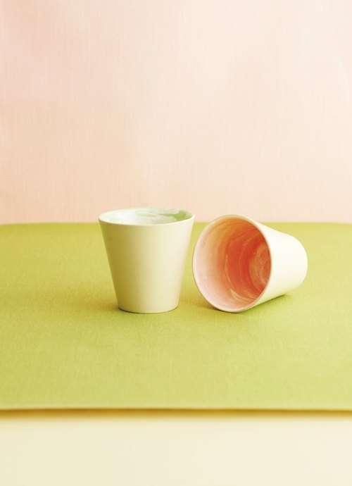 [In The Mood] Kyoto Earth beautiful series of small cups 280ml single entry group