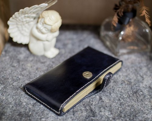 Leather handmade leather I Phone6 ​​stereoscopic mobile phones (hand-dyed black effect)
