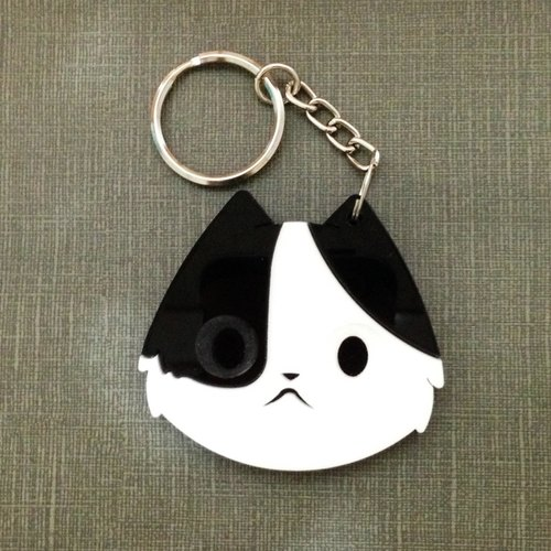 I love the zoo - Black Cat Acrylic key ring