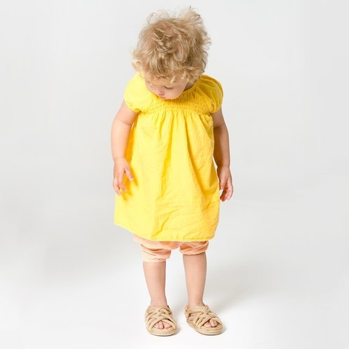 Swedish organic cotton infant clothing Shampoodle yellow dress Puff